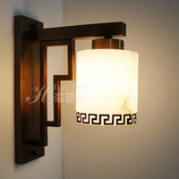 other other other free shipping Parent natural marble wall lamp chinese style wooden furniture wall lights copper lamp