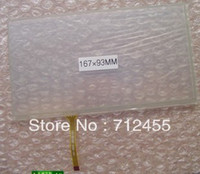 Wholesale Stop inch wire Resistive Touch screen digitizer x93mm GPS Tablet PC MID touch panel