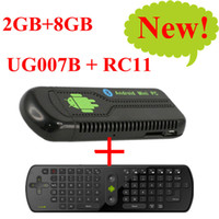 Wholesale 2013 new arrival GB GB Mini PC UG007B Android Dual Core GHZ Fly Air Mouse A UG007 B RC11 free ship