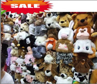 Wholesale Cartoon Many Animal Hat Long Fluffy Plush Cap Mask Scarf Hood D Earmuff Headgear Dance Party Beanie Hats Caps props Fur Costume cosplay