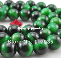 Wholesale Min order USD mixed order mm Natural Green Tiger eye Hot sell fashion beads jewelry making