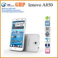 Wholesale inch Original Lenovo A850 Phone quad core MTK6582M WCDMA G GPS Android4 smart phone white black koccis