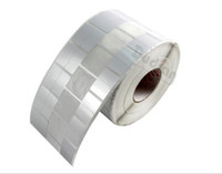 Wholesale Price Tags blank Silver Matte PET jewelry labels mm Horizontal Style Interval adhesive jewelry Adhesive Sticker