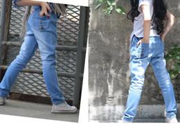 Wholesale Kids Children s jeans female Korean girls pants