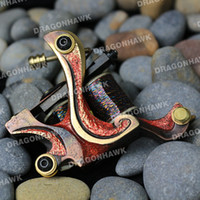 1 Piece custom tattoo machines - Tattoo supply Compass DAMASCUS amp COPPER liner and shader Custom tattoo machine Frame Copper Coils high quality C