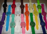 Wholesale New Shadow Style Watch Rubber Candy Jelly Fashion Men Wamen Silicone Quartz Watches
