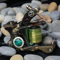 custom tattoo machines - Tattoo supply Compass DAMASCUS COPPER liner and shader Custom tattoo machine Frame Copper Coils high quality C