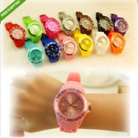 Wholesale 200PCS Colors Luxury Unisex Candy Jelly Watch High Quality Logo mm Fashion Silicone Quartz Ladies Women s Mens Men s Watches Buy