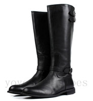 Roman Boots work boots - Large size fashion british style black mens knee high boots genuine leather motorcycle boots work office shoes winter boots men