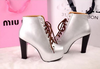 Ankle Boots Knight Boots Women Sexy thick waterproof boots naked boots with super high heels woman