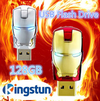Wholesale Flawless Avengers Iron Man LED Flash GB USB Flash drive Memory Drive Stick Pen ThumbCar usb disk
