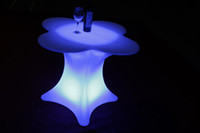 Wholesale Led fashionable luminous Bar Flower Table for bar furnitre party furniture decoration rechargeable furniture