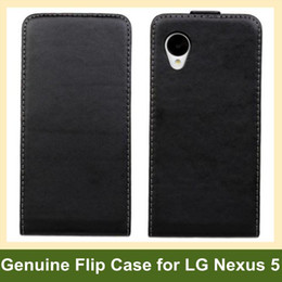 Wholesale Luxury Genuine Leather Flip Cover Case for LG Nexus 5 E980 Flip Cover Case for Google Nexus 5 Free Shipping