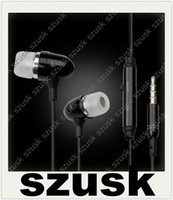 Metal Earphones Cellphone Earbuds with Mic Microphone for iP...