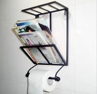 magazine rack - Nails fashion vintage wrought iron bookshelf bathroom towel rack suction cup magazine rack wall mounted shelf