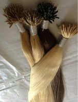 Straight Indian Hair machine Retail TOP QUALITY Very Soft 16-24'' Nano Rings Indian Remy Human Hair Extensions AAA Grade 1g 300 Stands Mixed Colors DHL Free Shipping