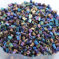 Crystal   2*3mm 2500pcs Ab blue DIY Loose glass Czech tube Seed beads Fashion garment accessories and jewelry findings free shipping