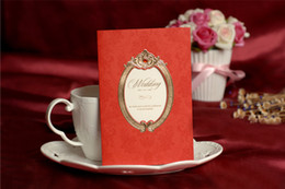 Wholesale WIV S red Wedding Invitations wedding card Personalized custom printing inner sheet