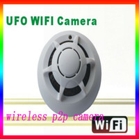 Wholesale hot wireless Smoke Detector Alarm Home security mini DVR hidden HD camera Recorder wifi