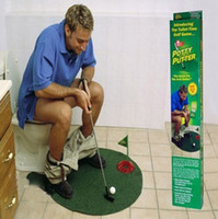 Wholesale New Toilet Time Game Golf Practice Putty Potter Bathroom Game Gift Novelty MINI Set
