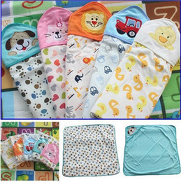 Wholesale 80cm cm Baby Boys Girls Blanket Cotton Sleeping Bag With Cap Best Gift Sleeping Sackbaby Swaddle BB144