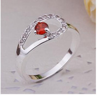 Wholesale ps Charm Nature Gemstone silvered Ring A free