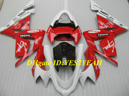 Hot red white Fairing kit for KAWASAKI Ninja ZX10R 04 05 ZX 10R 2004 2005 Injection mold ZX-10R 04-05 Motorcycle Fairings body kit