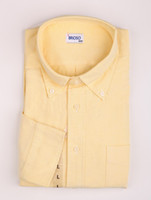 Men Cotton Long Sleeve Comfortable Yellow 100% Cotton Mens Shirt silk shirts for men #u10-j7D