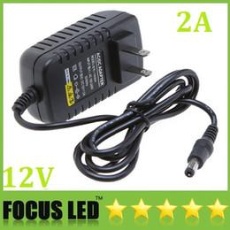 Promotion 12v ac chargeur AC 100-240V à DC 12V 2 a nous fiche adaptateur chargeur Adapter Power Supply pour livraison gratuite de lumières en bandes Led