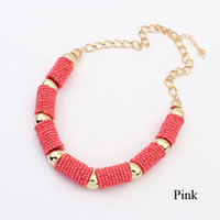 Wholesale Bohemia Chunky Chain Simple Necklace Jewelry for Women Lady Girl SF040