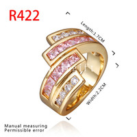 Wholesale Factory Direct new listing exquisite fashion Top grade jewelry cute pink Swarovski Elements Crystal KRGP ring nice Super cheap popular