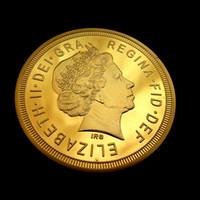 gold bullion - New The GOLD CLAD monarch Ounce K Gold Plated US mint gold bullion moedas comemorativas numismatics celtic UK British Sovereign Gold coin