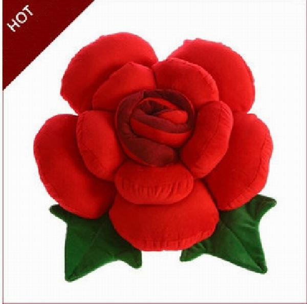 rose flower shape bed sofa chair throw cushion lumbar pillow lover wedding gift - Bed Pillow Chair