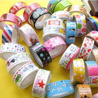 New: A -new, unused, unopened, undamaged New  Wholesale -10 Rolls of Kawaii Lovely Deco Cartoon Tape Scrapbooking Adhesive Paper Sticker#B671