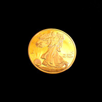 Wholesale Brass pure Gold Metal Plated Statue of liberty Collectible Souvenir festschrift commemorative perth mint mandela custom monnaie