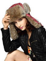 Wholesale Watermelon Camouflage Faux Fur Cotton Blend Hat for Woman beanies u7 DID