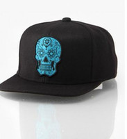 Scarred For Life Calavera Skull Snapback Cap hiphop top bran...
