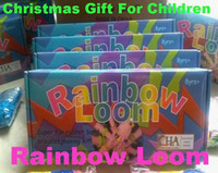 Wholesale Xmas Gift Rainbow Loom Kit and Tie Dye Rubber Bands Twistz Bands Rainbow Loom Christmas toys