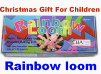 Wholesale Rainbow Loom Kit and Tie Dye Rubber Bands Twistz Bands Rainbow Loom Christmas toys box