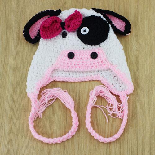 Crochet Pattern Cow Hat : Pictures of Children Cow Earflap Hat Crochet Pattern Kids ...