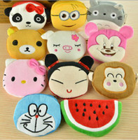 Adorable Cartoon Pruse Thicken Fleece cotton wallet Lovely P...