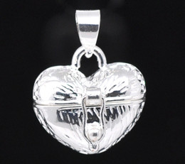 Wholesale Charms Silver Plated Heart Prayer Wish Craft Photo Frame Locket Box Fit Necklace Pendant