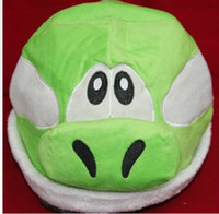 Unisex 12-14 Years Video Games Wholesale - Super Mario Bros Character Anime Cosplay Yoshi Plush Cap yoshi hat cartoon hat cap