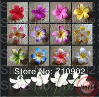 Wholesale Inch Hawaiian Plumeria Foam Flowers With Stems Foam Flowers Ear Piece Hair Picks