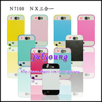 For Samsung Plastic For Christmas Hybrid slide dual color credit card mix color NX CASE Logo plastic For Samsung Galaxy note2 II N7100 hard case cases covers skin 100pcs