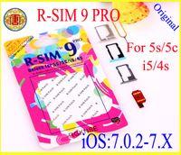 achat en gros de iphone 5 unlock-R-SIM 9 RSIM9 R-SIM9 Pro Parfait carte SIM Unlock IOS officiel 7.0.2 7.1 ios 7 RSIM 9 pour iphone 4S 5 5G 5S 5C GSM CDMA WCDMA 3G 4G