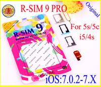 al por mayor r sim 5c-R-SIM 9 RSIM9 R-SIM9 Pro Tarjeta SIM perfecta Desbloquear IOS 7.0.2 7.1 IOS 7 RSIM 9 para iphone 4S 5 5G 5S 5C GSM CDMA WCDMA 3G 4G