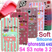 For Apple iPhone Silicone For Christmas 3D Cartoon my cool way Melody take a bath Soft Silicone Skin Case cover For iphone 4 4S 5 5S galaxy S3 i9300 S4 i9500 note 3 N9000 2 N7100