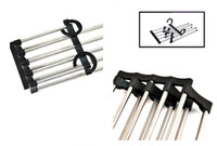 laundry products - Five in one Trousers Rack Clothes Hangers Durable Stainless Steel Laundry Products ZEX