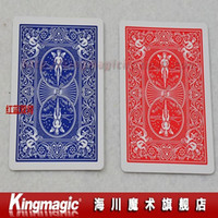 Wholesale by CPAM Double Back RED amp BLUE Bicycle Poker best quality card magic magic toys magic tricks magic props